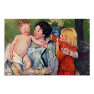 After The Bath By Cassatt Mary (Best Quality) Poster