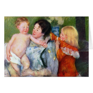 After the bath by Mary Cassatt Greeting Card