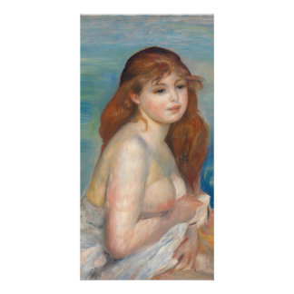 After the Bath by Pierre-Auguste Renoir Personalized Photo Card