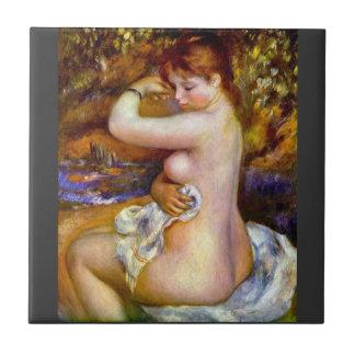 After the bath by Pierre Renoir Ceramic Tile