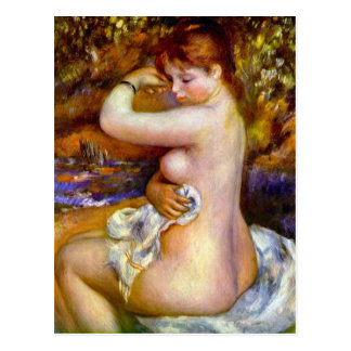After the bath by Pierre Renoir Postcard