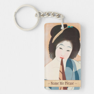 After the Bath Shima Seien japanese vintage lady Keychain