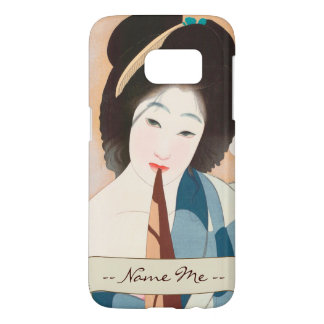 After the Bath Shima Seien japanese vintage lady Samsung Galaxy S7 Case