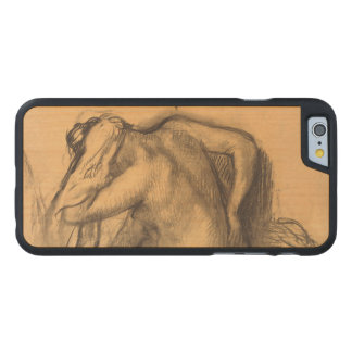 After the Bath Woman Drying Hair by Edgar Degas Carved Maple iPhone 6 Slim Case
