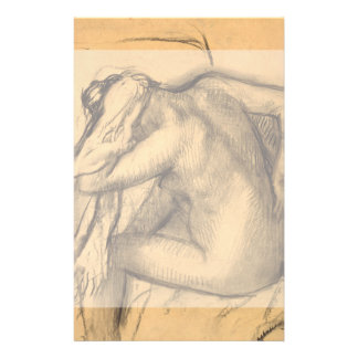 After the Bath Woman Drying Hair by Edgar Degas Flyer