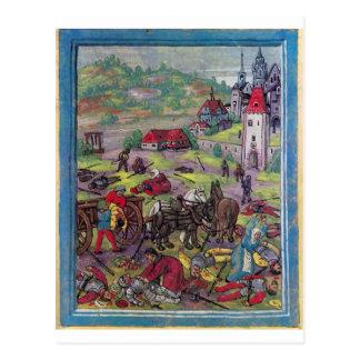 After the Battle of Triboltingen in Swabian War Postcard