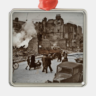 After the Bombing of London Metal Ornament