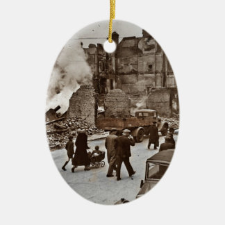 After the Bombing of London Christmas Ornament