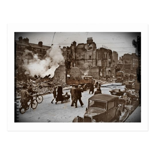 After the Bombing of London Postcard