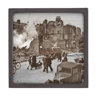 After the Bombing of London Premium Trinket Box