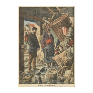 After the disaster fro  'Le Petit Journal' Canvas Print