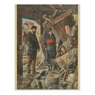 After the disaster fro  'Le Petit Journal' Postcard