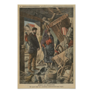After the disaster fro  'Le Petit Journal' Poster