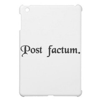 After the fact. iPad mini case