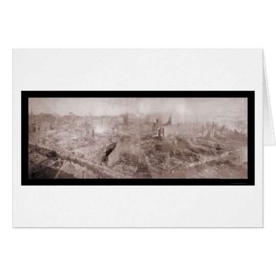 After The Fire Boston Photo 1872 Card