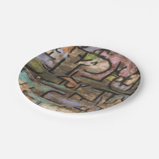 After The Flood by Paul Klee 7 Inch Paper Plate