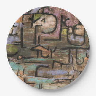 After The Flood by Paul Klee 9 Inch Paper Plate