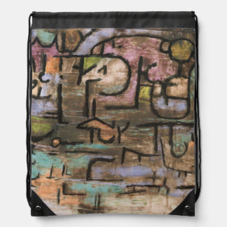 After The Flood by Paul Klee Drawstring Bag