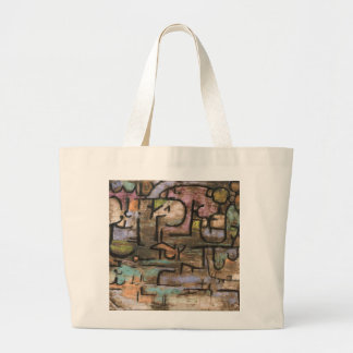After The Flood by Paul Klee Large Tote Bag