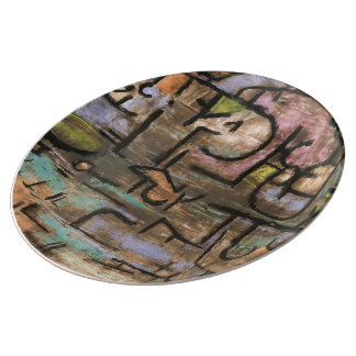 After The Flood by Paul Klee Porcelain Plate