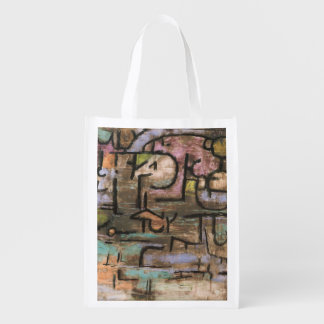 After The Flood by Paul Klee Reusable Grocery Bag