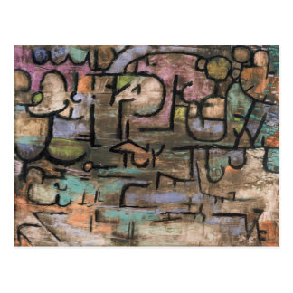 After the floods by Paul Klee Postcard