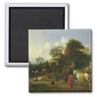 After the Hunt, c.1644 2 Inch Square Magnet
