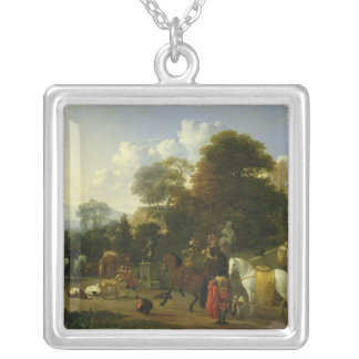 After the Hunt, c.1644 Square Pendant Necklace