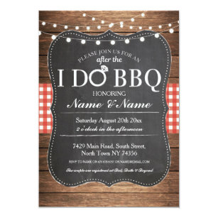 Bbq Wedding Invitations Zazzle