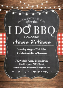 bbq wedding invitations zazzle