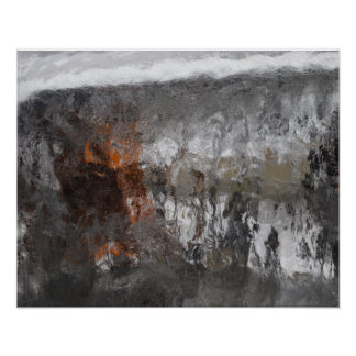 After The Ice Storm Abstract Photographic Art Poster