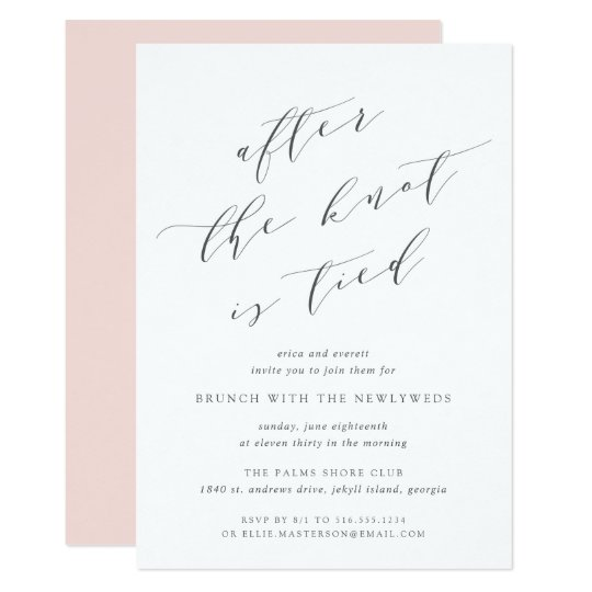 after the knot is tied wedding brunch invitation zazzle com