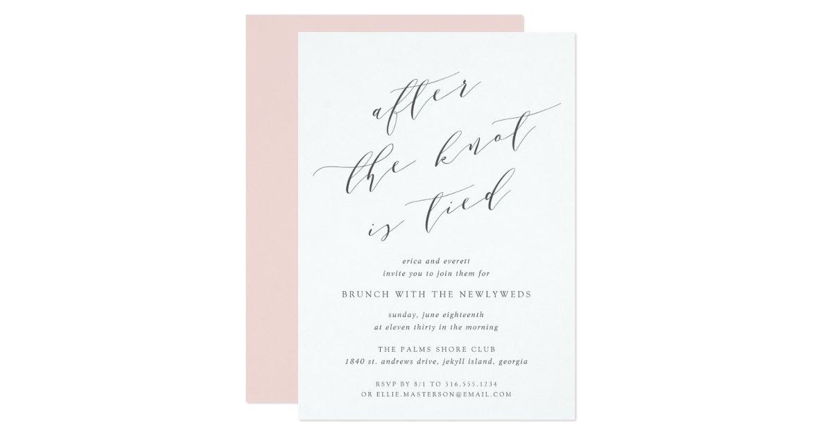 After The Wedding Party Invitations: Wedding Brunch Invitation