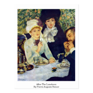 After The Luncheon By Pierre-Auguste Renoir Postcard
