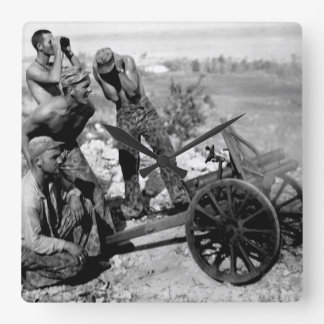 After the Marines captured this mountain_War Image Square Wall Clock
