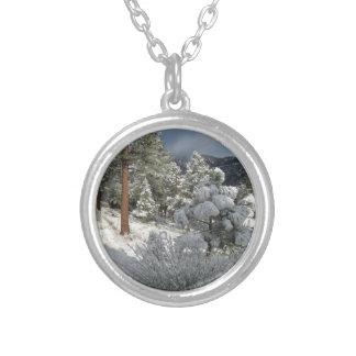 After the Mountain Snow Storm Personalized Necklace