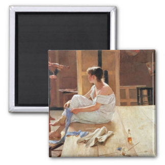 After the Pose, 1884 2 Inch Square Magnet