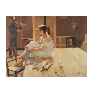 After the Pose, 1884 Wood Print