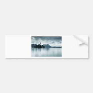 After the rain at Lake Bled Car Bumper Sticker