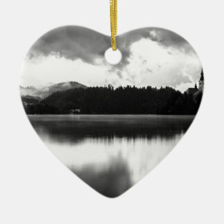 After the rain at Lake Bled Ceramic Ornament