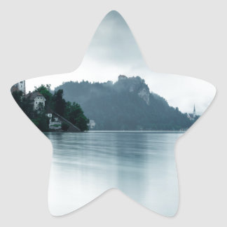 After the rain at Lake Bled Star Sticker