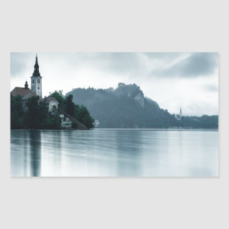 After the rain at Lake Bled Rectangular Sticker