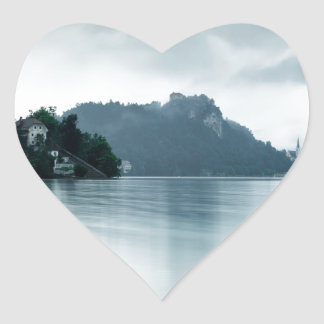 After the rain at Lake Bled Heart Sticker