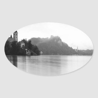 After the rain at Lake Bled Oval Sticker