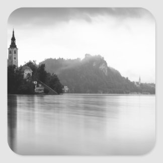 After the rain at Lake Bled Square Sticker