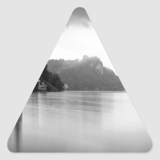 After the rain at Lake Bled Triangle Sticker