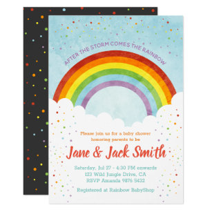3fd9f080a6227 After the Rain Comes the Rainbow | Baby Shower Invitation