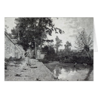 After the rain, from 'Leisure Hour', 1888 Card