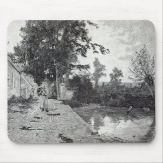 After the rain, from 'Leisure Hour', 1888 Mouse Pad