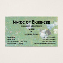 After the Rain, Garden with Chickens by Klimt Business Card